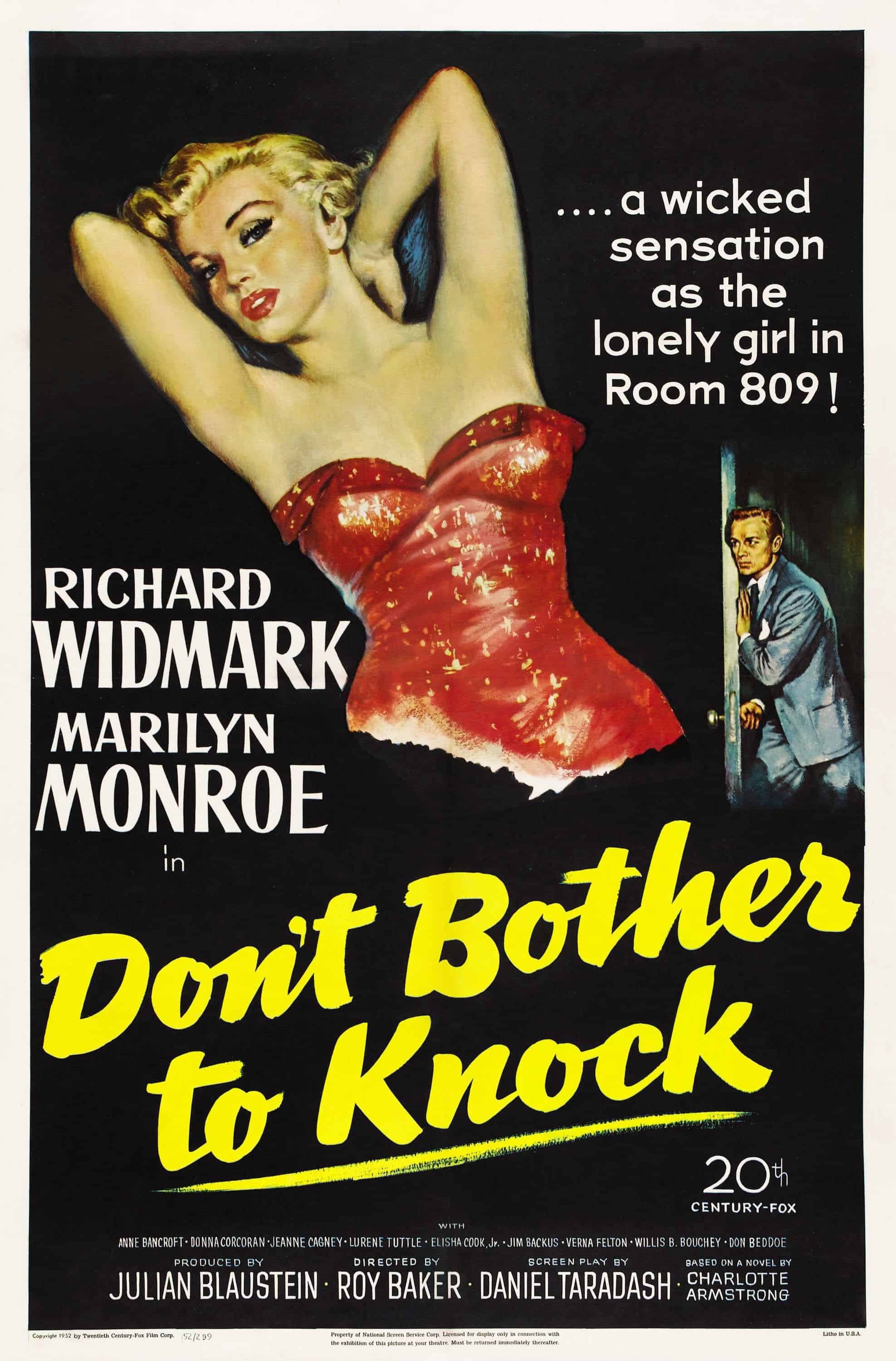 Don't Bother to Knock, 1952